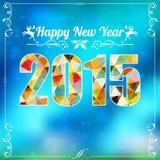 Marco retro del Año Nuevo Imagenes de archivo