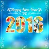Marco retro del Año Nuevo Foto de archivo libre de regalías