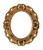 Marco retro del oro - óvalo Imagen de archivo libre de regalías
