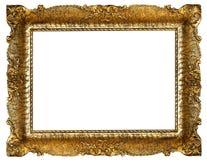 Marco retro del oro Foto de archivo