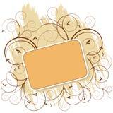 Marco retro floral anaranjado Fotos de archivo libres de regalías