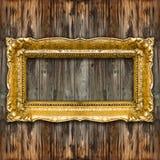 Marco retro grande del oro viejo Imagen de archivo libre de regalías