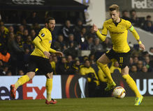 Marco Reus. Football players pictured during UEFA Europa League round of 16 game between Tottenham Hotspur and Borussia Dortmund on March 17, 2016 at White Hart Royalty Free Stock Photography