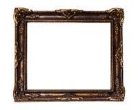 Marco rococó adornado del oro Fotos de archivo libres de regalías
