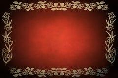 Marco rojo de Grunge stock de ilustración