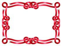 Marco rojo de la cinta aislado en blanco Fotografía de archivo libre de regalías