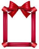Marco rojo de la cinta y del arqueamiento Imágenes de archivo libres de regalías