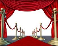 Marco rojo de la cortina del terciopelo Fotografía de archivo