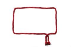 Marco rojo de la cuerda Foto de archivo libre de regalías