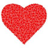 Marco rojo de la foto del corazón Fotografía de archivo