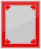 Marco rojo de la foto del diseñador stock de ilustración