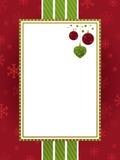 Marco rojo de la Navidad del verde y del oro
