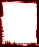 Marco rojo del cepillo Foto de archivo libre de regalías