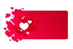 Marco rojo del día de tarjeta del día de San Valentín Fotografía de archivo
