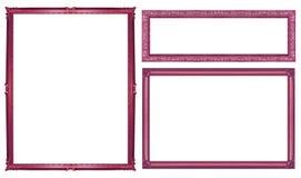 marco rojo del vintage de la colección aislado en el fondo blanco, clipp Fotografía de archivo libre de regalías