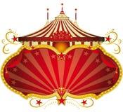 Marco rojo mágico del circo Imágenes de archivo libres de regalías