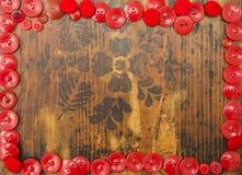 Marco rojo para el texto Fotos de archivo libres de regalías