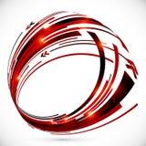 Marco rojo y negro abstracto de las flechas del techno Foto de archivo