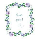 Marco romántico de la flor Imagen de archivo