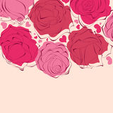 Marco romántico de las rosas Fotografía de archivo