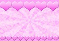 Marco rosado ilustración del vector