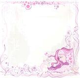 Marco rosado stock de ilustración