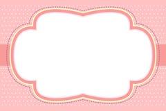 Marco rosado adornado de la burbuja Fotos de archivo libres de regalías