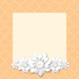Marco rosado de la imagen con las flores blancas 3d Foto de archivo libre de regalías
