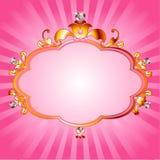 Marco rosado de la princesa Imagenes de archivo