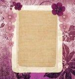 Marco rosado de la vendimia Foto de archivo libre de regalías