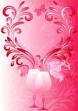 Marco rosado de las tarjetas del día de San Valentín Imagen de archivo libre de regalías