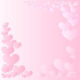 Marco rosado de los corazones Foto de archivo
