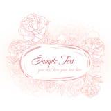 Marco rosado romántico con los peonies Fotos de archivo libres de regalías