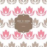 Marco rosado y marrón de las rayas de los tulipanes inconsútil ilustración del vector