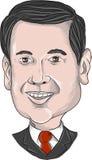 Marco Rubio Caricature ilustração stock