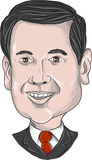Marco Rubio Caricature ilustração royalty free