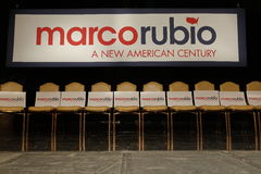 Marco Rubio Holds Campaign Rally at Texas Station, Dallas Ballroom, North Las Vegas, NV. Royalty Free Stock Photos