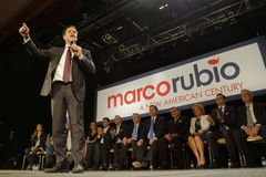Marco Rubio Holds Campaign Rally at Texas Station, Dallas Ballroom, North Las Vegas, NV. Royalty Free Stock Photography