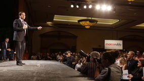 Marco Rubio Holds Campaign Rally at Texas Station, Dallas Ballroom, North Las Vegas, NV. Royalty Free Stock Image