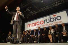 Marco Rubio Holds Campaign Rally at Texas Station, Dallas Ballroom, North Las Vegas, NV. Stock Photography