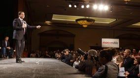 Marco Rubio Holds Campaign Rally at Texas Station, Dallas Ballroom, North Las Vegas, NV. Royalty Free Stock Photography