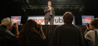 Marco Rubio Holds Campaign Rally at Texas Station, Dallas Ballroom, North Las Vegas, NV. Stock Images