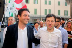 Marco Ruggeri and Dario Nardella Mayor of Florence Stock Photo