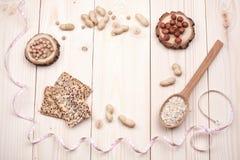 Marco sano de la nutrición Imagen de archivo libre de regalías