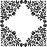 Marco simétrico con follaje encrespado stock de ilustración