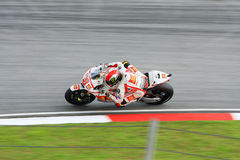 Marco Simoncelli in action Royalty Free Stock Images