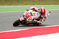 Marco Simoncelli racing Royalty Free Stock Photography
