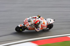 Marco Simoncelli at Sepang Circuit Royalty Free Stock Photo