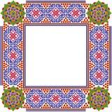 Marco simple cuadrado de la foto de las mandalas Fotografía de archivo