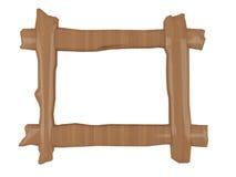 Marco simple de madera aislado Foto de archivo